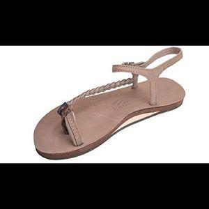 Rainbow Marley Flat Braided Sandal